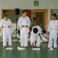 Remise de ceinture Blanche-jaune