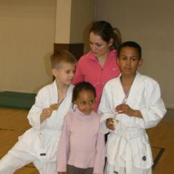 Les judokas de l'US Dugny avec Laetitia (leur Professeur)